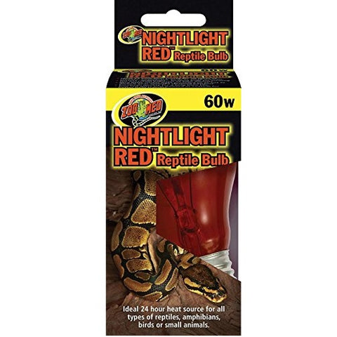 Zoo Med Nightlight Red Reptile Bulb (60 Watts)