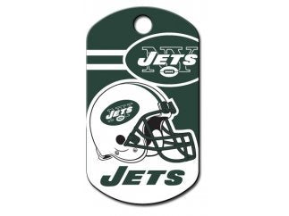 Customizable New York Jets Military Dog Tag (Large)