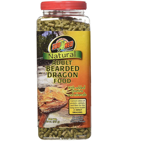 Zoo Med Natural Bearded Dragon Food, Adult Formula (20-Oz.)