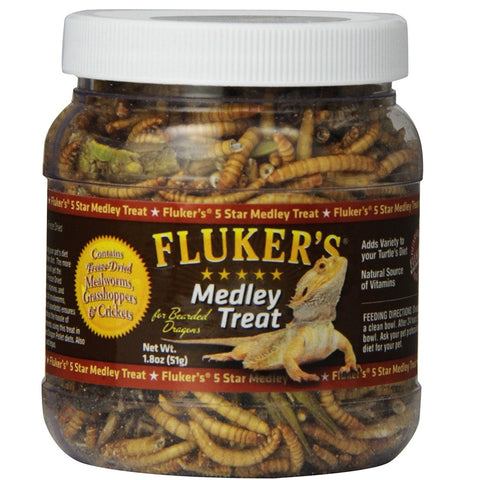 Fluker Bearded Dragon Medley Treat Food (1.8-Oz.)