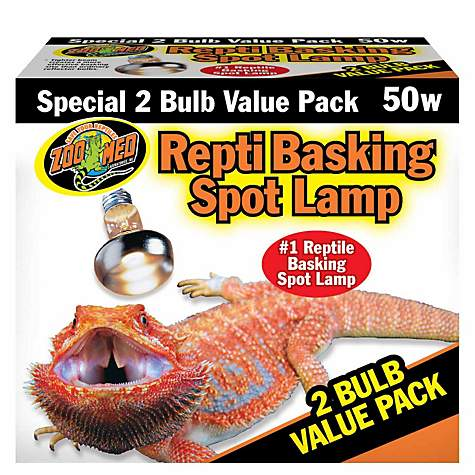 Zoo Med Repti Basking Spot Lamp, 2 pack (50, 75, 100 Watts)