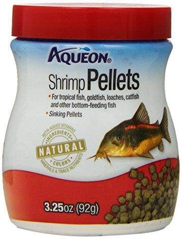 Aqueon Shrimp Pellets Fish Food (3.25-Oz.)