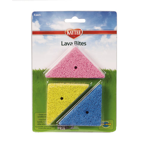Kaytee Small Animal Lava Bites Chew Treats (3-Pack)