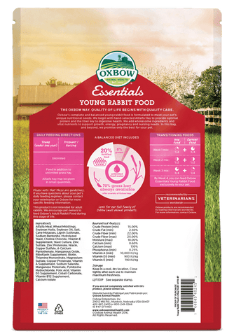 Oxbow Essentials Young Rabbit Food (5, 10 Lbs.)