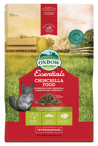 Oxbow Essentials Chinchilla Food, (3, 10, 24 Lbs.)