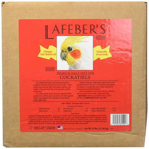 Lafeber's Cockatiels Daily Diet Pellets (25-Lbs.)