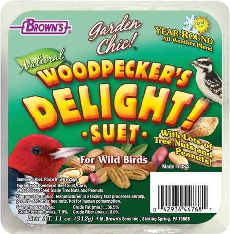 F.M. Brown's Garden Chic Woodpecker's Delight Suet Cake (11-Oz.)