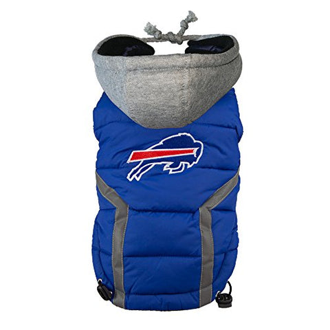 NFL Dog Puffer Vest- Bills (S/M)