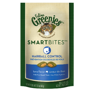 Greenies Smartbite Hairball Control Treats, Tuna Flavor (2.1-Oz.)