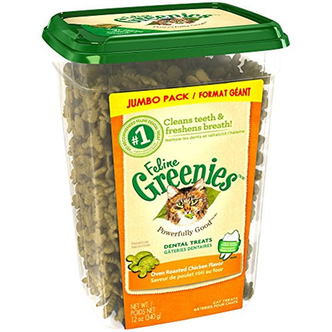 Greenies Dental Treats For Cats Oven Roasted Chicken Flavor (12-Oz.)