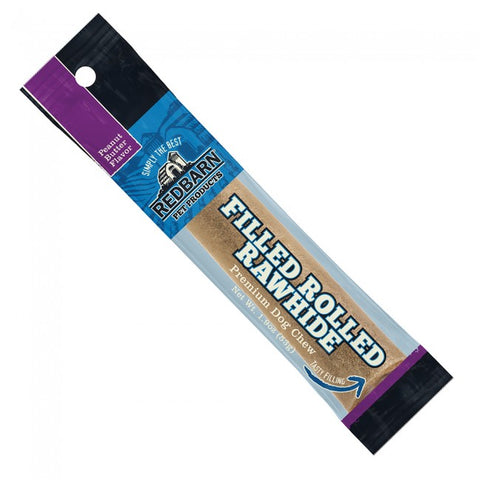 Redbarn Bone Rolled Filled Rawhide Peanut Butter (1.9 oz)