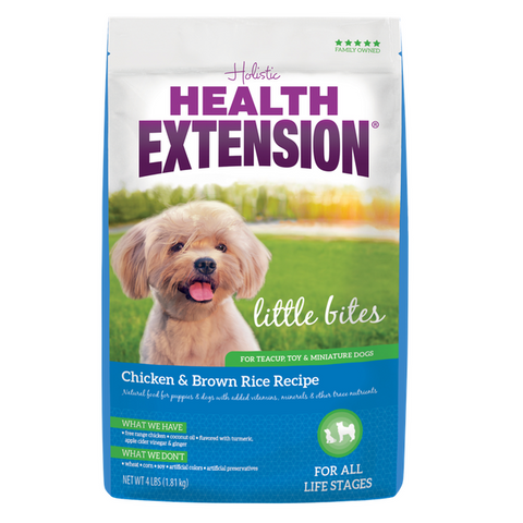 Health Extension Little Bites Dog Food, Chicken & Brown Rice (4-Lbs.)
