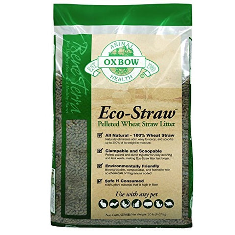 Oxbow Eco-straw Small Animal Bedding (20-Lbs).