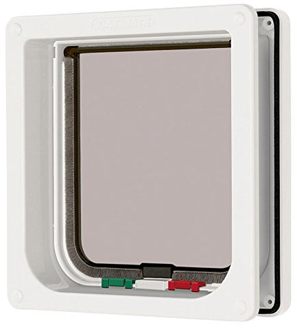 Cat Mate 4 Way Locking Cat Flap with Door Liner- White