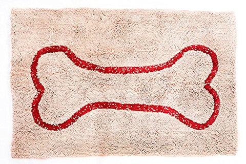 Soggy Doggy Doormat (Large, Beige/Red)