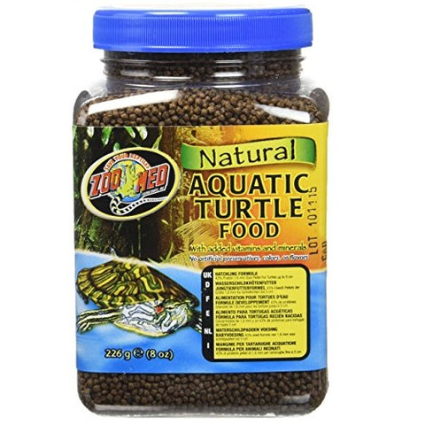 Zoo Med Natural Aquatic Turtle Food- Hatching Formula (8-Oz.)