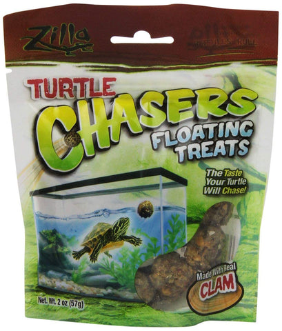 Zilla Real Clam Turtle Chasers Floating Treat (2-Oz.)