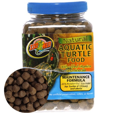 Zoo Med Natural Aquatic Turtle Food, Maintenance Formula (6.5 ,12, 24, 45-Oz.)