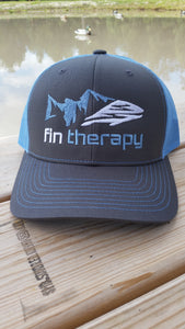 R112 Charcoal/Columbia Blue Hat