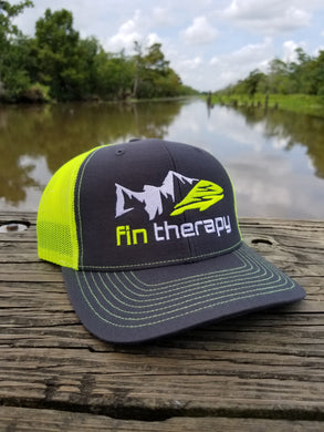 R112 Charcoal/Neon Yellow Hat