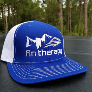 R112 Royal blue/white fishing hat