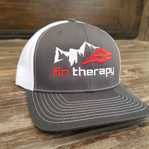 fin therapy charcoal/white fishing hat