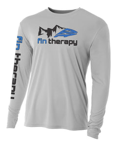Long sleeve fishing shirt | Silver | fin therapy