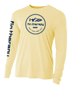 Light yellow polyester long sleeve shirt