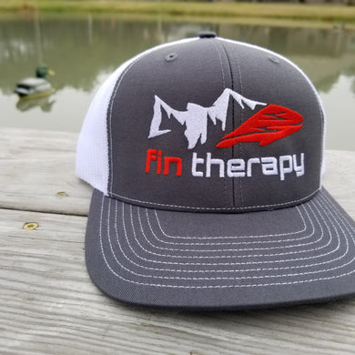 R112 Charcoal/White Fishing Hat