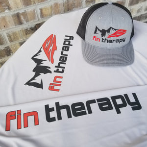 Silver long sleeve fishing shirt | Fin Therapy