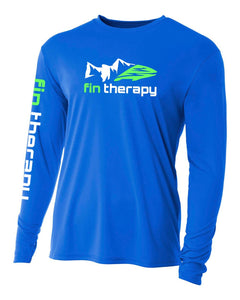 fin therapy royal blue fishing shirt