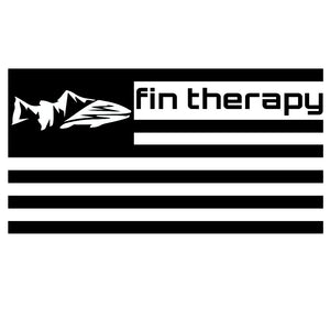 Decal fin therapy flag