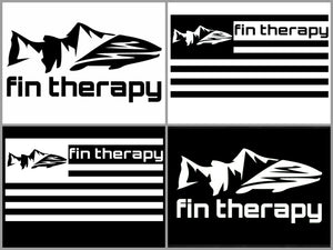 Fin Therapy Vinyl Decals - 4 pack