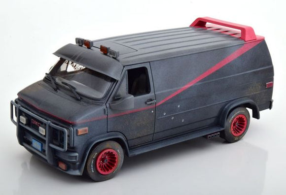 GMC Vandura Van A-Team 1983 Dirty Version 1/18 GREENLIGHT