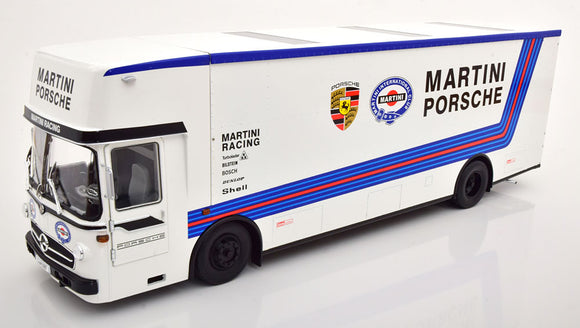Mercëdes-Benz O317 Truck Car Transporter Porsche Martini Racing 1/18 CMR