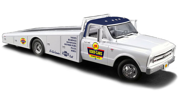 Chevrolet C-30 Truck Ramp Car Transporter Used Cars 1967 1/18 ACME