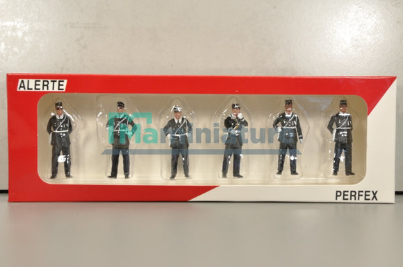 Figurines Lot de 5 Police Gendarmes