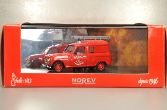 Renault 4 Fourgonnette F4 1965 Pompiers 1/43 NOREV