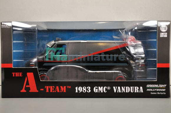 Gmc Vandura 1983 Lagence Tous Risques 1/18 Greenlight
