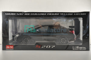 Subaru S207 NBR Challenge Package Black 1/18 SUNSTAR