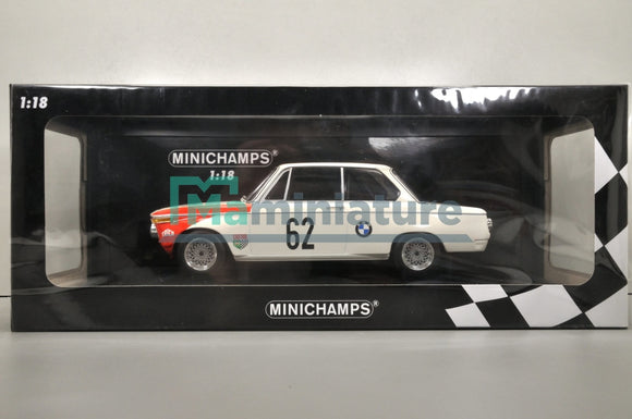 BMW 2002 #62 Team AG Winner Guards 1969 1/18 MINICHAMPS