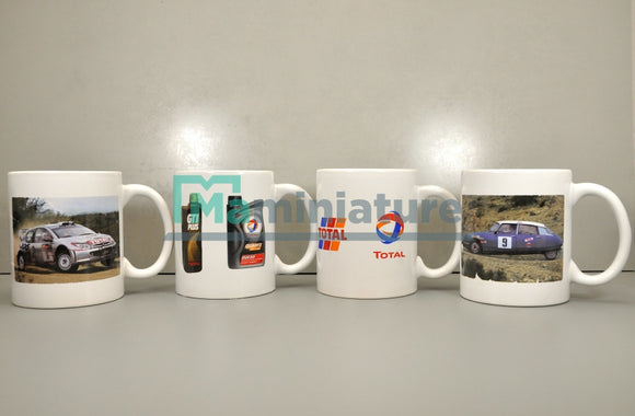 Coffret 4 Mugs Vintage TOTAL