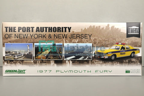 Plymouth Fury 1977 Police New York and New Jersey 1/18 GREENLIGHT