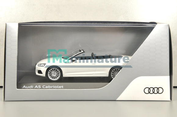 Audi A5 Cabriolet White 1/43 SPARK - AUDI COLLECTION