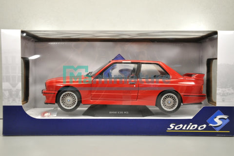 BMW M3 E30 Rouge 1/18 SOLIDO