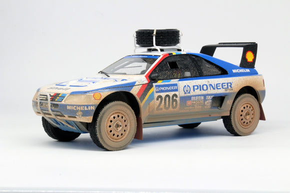 Peugeot 405 T16 Turbo 16 2nd Paris Dakar 1989 Dirty 1/18 TOP MARQUES