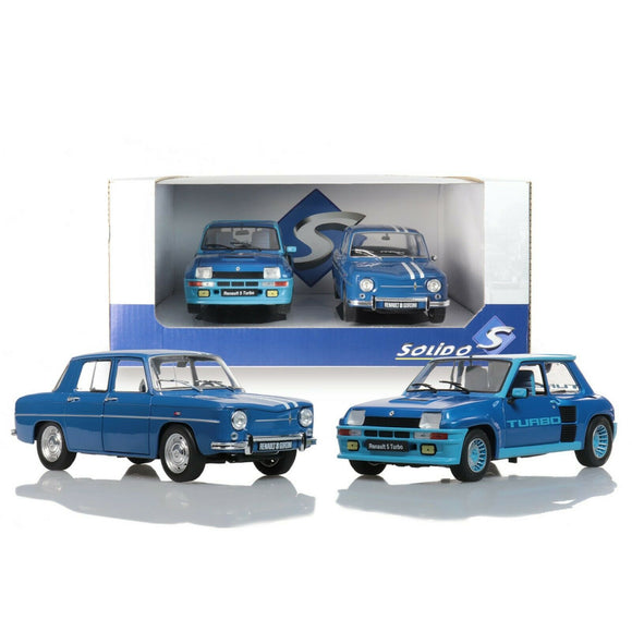 Pack Renault 5 Turbo + Renault 8 Gordini 1100 1/18 SOLIDO