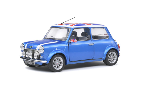 Austin Mini Cooper Sport Fisherman Blue 1997 1/18 SOLIDO S1800607