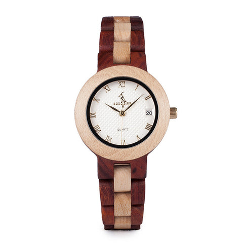 M19 Rose Sandal Wood Watch Women Minimal - Fashion Accessories - [shop name]
