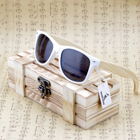 BOBOBIRD: Rectangular Oversized Bamboo Sunglasses - Fashion Accessories - [shop name]
